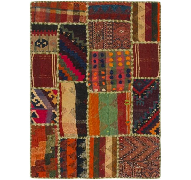 3' x 4' Kilim Patchwork Rug