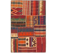 Link to 2' 10 x 4' 4 Kilim Patchwork Rug