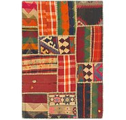 Link to 2' 10 x 4' 2 Kilim Patchwork Rug