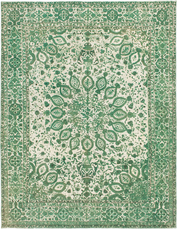 Green 9 9 X 12 8 Ultra Vintage Persian Rug Rugs Com