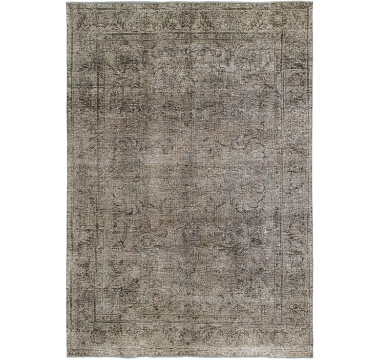 HandKnotted 7' 5 x 11' Ultra Vintage Persian Rug