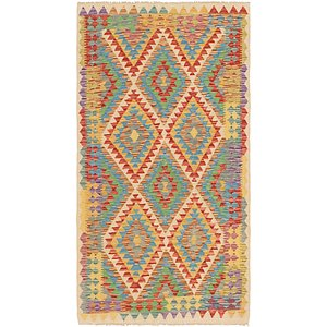 Unique Loom 3' 6 x 6' 5 Kilim Maymana Rug