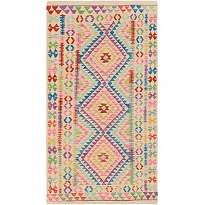 Link to 102cm x 198cm Kilim Maymana Runner Rug item page