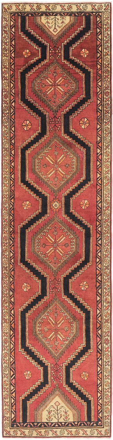 Red 3 X 12 7 Meshkin Persian Runner Rug Persian Rugs