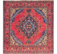 Link to 9' 5 x 9' 9 Tabriz Persian Square Rug