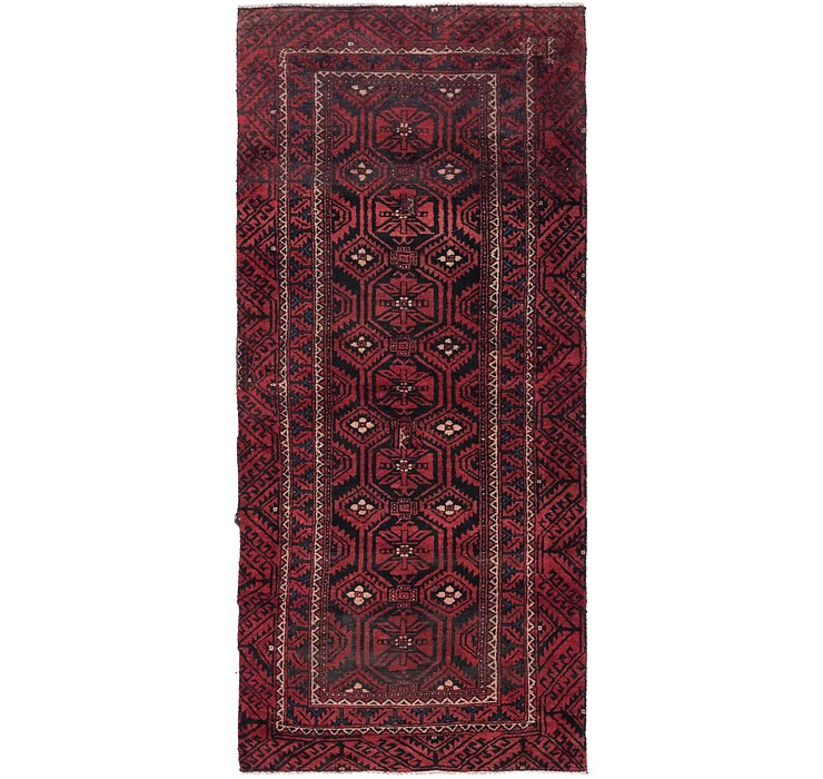 4' x 8' 10 Balouch Persian Runner ...