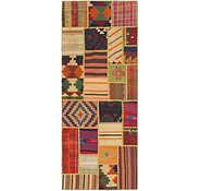 Link to 2' 8 x 6' 10 Kilim Patchwork Runner Rug