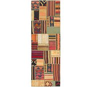 Link to 2' 8 x 8' 3 Kilim Patchwork Runner Rug