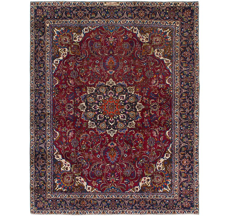 9' 4 x 11' 10 Mashad Persian Rug
