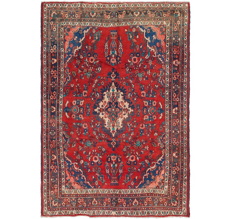 HandKnotted 6' 7 x 9' 6 Hamedan Persian Rug