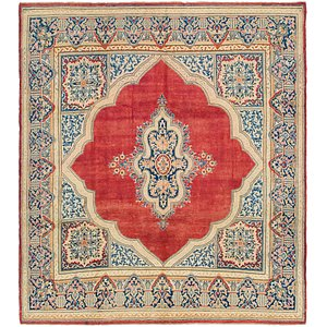 9' 9 x 10' 10 Kerman Persian Square Rug