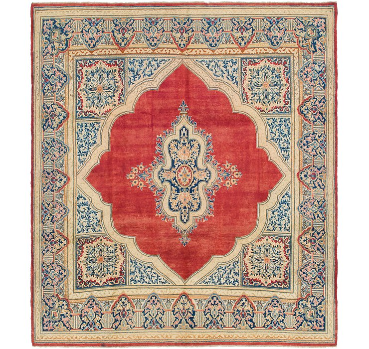 9' 9 x 10' 10 Kerman Persian Square Rug