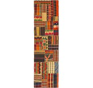 Link to 2' 10 x 10' Kilim Patchwork Runner Rug