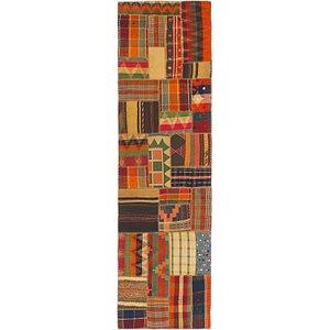 Unique Loom 2' 10 x 10' Kilim Patchwork Runner ...