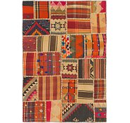 Link to 3' 5 x 4' 10 Kilim Patchwork Rug