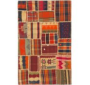 Link to 3' 2 x 5' Kilim Patchwork Rug
