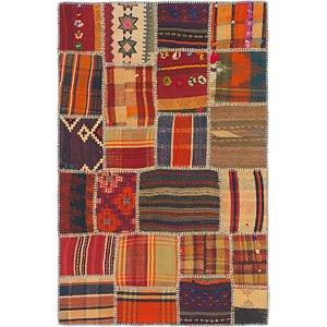 Unique Loom 3' 3 x 5' Kilim Patchwork Rug
