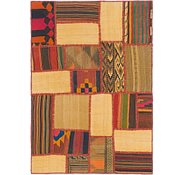 Link to 3' 4 x 4' 9 Kilim Patchwork Rug