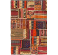 Link to 3' 6 x 5' 2 Kilim Patchwork Rug