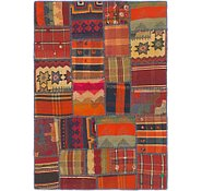 Link to 3' 5 x 4' 9 Kilim Patchwork Rug