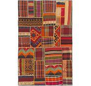 Link to 4' x 6' 5 Kilim Patchwork Rug