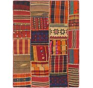 Link to 3' 5 x 4' 6 Kilim Patchwork Rug
