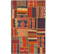 Link to 3' 2 x 4' 10 Kilim Patchwork Rug
