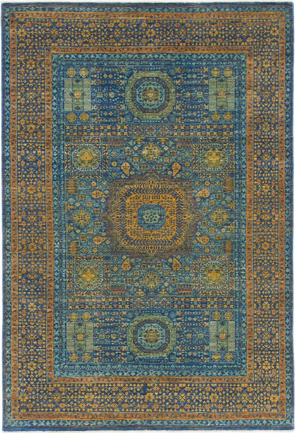 Blue 4 X 6 Mamluk Ziegler Oriental Rug Oriental Rugs
