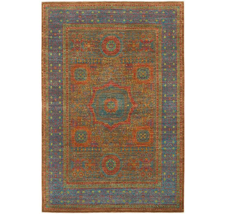 6' 8 x 9' 10 Mamluk Ziegler Oriental...