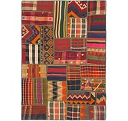 Link to 4' 2 x 5' 10 Kilim Patchwork Rug