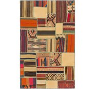Link to 3' 10 x 6' 3 Kilim Patchwork Rug