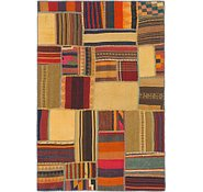 Link to 3' 10 x 5' 8 Kilim Patchwork Rug