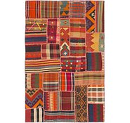 Link to 4' x 6' 3 Kilim Patchwork Rug