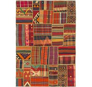 Link to 4' 3 x 6' 2 Kilim Patchwork Rug