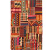 Link to 4' x 6' 2 Kilim Patchwork Rug