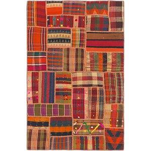 Unique Loom 4' x 6' Kilim Patchwork Rug
