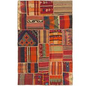 Link to 3' 4 x 5' 2 Kilim Patchwork Rug