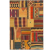 Link to 3' 5 x 5' Kilim Patchwork Rug