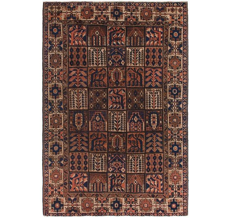 6' 9 x 10' Bakhtiari Persian Rug