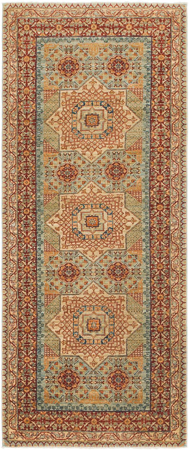 Light Blue 3 X 7 3 Mamluk Ziegler Oriental Runner Rug Oriental