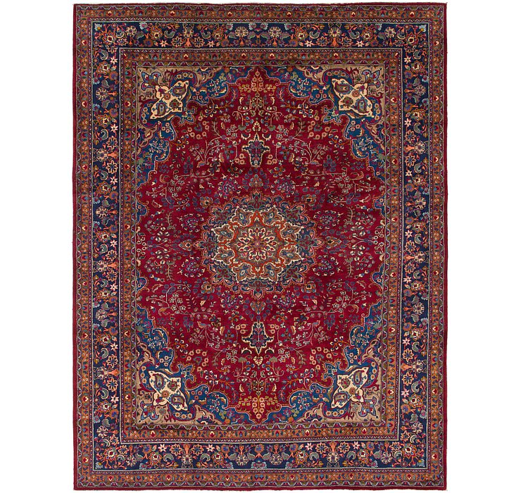 HandKnotted 9' 8 x 13' Mashad Persian Rug