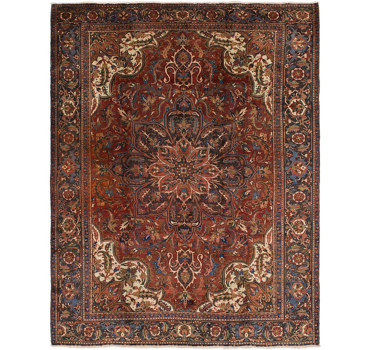 9' 9 x 12' 2 Heriz Persian Rug