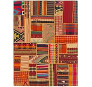 Link to 5' 4 x 7' 2 Kilim Patchwork Rug
