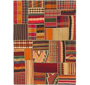 Link to 5' x 6' 10 Kilim Patchwork Rug