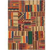 Link to 5' x 6' 9 Kilim Patchwork Rug