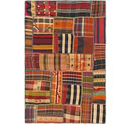 Link to 3' 10 x 5' 10 Kilim Patchwork Rug