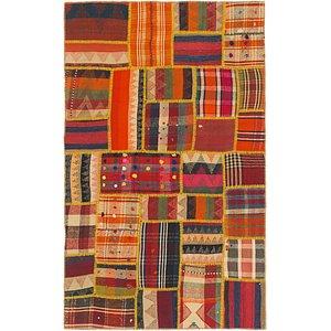 Unique Loom 3' 10 x 6' 3 Kilim Patchwork Rug
