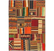 Link to 5' x 7' Kilim Patchwork Rug