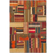 Link to 147cm x 213cm Kilim Patchwork Persian Rug