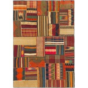 Unique Loom 4' 10 x 7' Kilim Patchwork Persian...